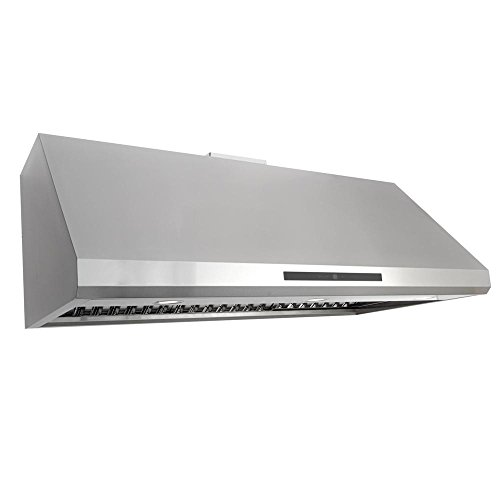 Commercial Range Hood - Cosmo COS-18U48 48-in Under-Cabinet Range Hood 1000-CFM Ductless Convertible Duct, Kitchen Stove Vent LED Light, Dual-Motor 4 Speed Exhaust, Fan Timer, Permanent Filter, (Stainless Steel)