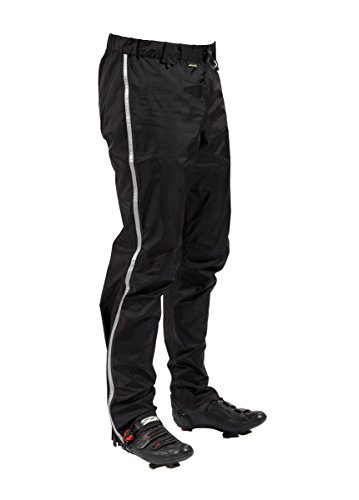 Showers Pass Men's 3 Layer Waterproof Transit  Rain Pants (Black - X-Large)