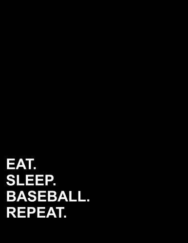 """Eat Sleep Baseball Repeat: French Ruled Notebook French Ruled Journal, Seyes Ruled Paper, 8.5"""" x 11"""", 200 pages (Volume 25) ebook"""
