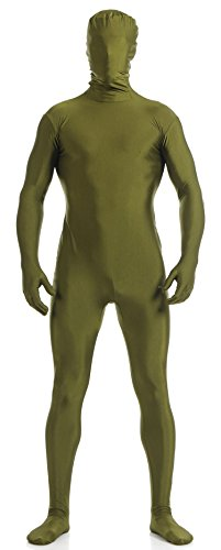 VSVO Unisex Skin-Tight Spandex Full Body Suit (XX-Large, Olive Green) -
