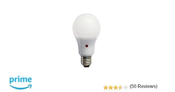 F-Bright Bombilla Led Standard con Sensor Crepuscular E27, 12 W, Blanco 12.5 x 6.5 cm: Amazon.es: Iluminación