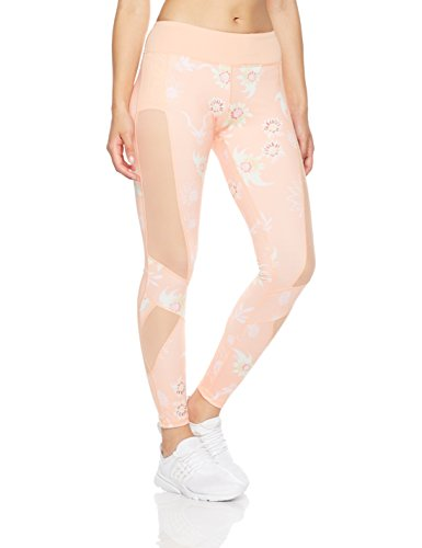 Mint Lilac Women's Printed Pants with Mesh Panel