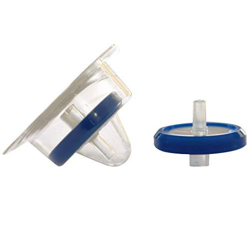 - Simsii Syringe Filter, Nylon,Sterile, Diameter 25mm, Pore Size 0.22 Micron,Disc Shape Blue Corded,PP Housing,Luer Lock,Pack of 50,
