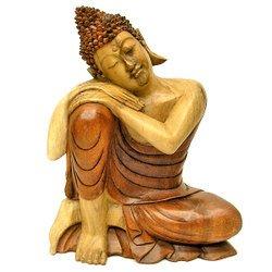 Amazon|木彫りの仏陀 まどろむ...
