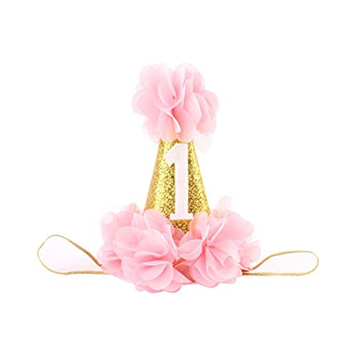 Infant Baby 1st Birthday Party Hat Princess Hairband Baby Girl Flower Delicate Hair Accessories Crown Party ()
