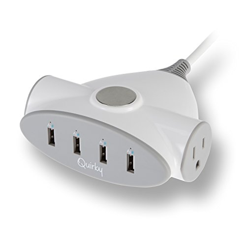 Quirky Magnecharge Magnetic Desktop Charging Station, 4 USB ports, 2 Power Outlets by Quirky