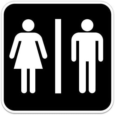 Amazon Com Gt Graphics Bathroom Sign Restroom Unisex Bathroom Sign Vinyl Sticker Waterproof Decal Sports Outdoors