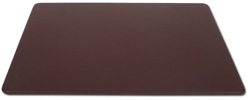 Dacasso Chocolate Brown Leather Desk Mat, 30-Inch by 19-Inch