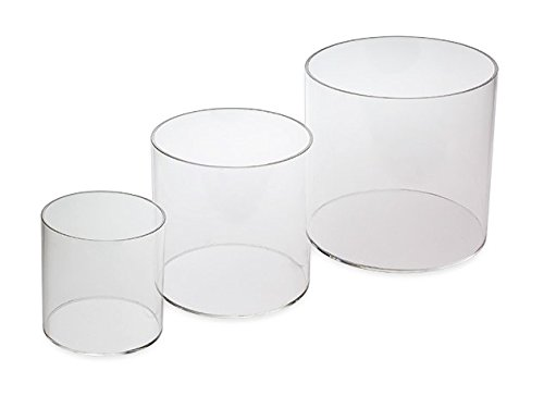 Source One LLC 3 Piece Set 4,6,8 Inch Round Clear Acrylic Riser Sets