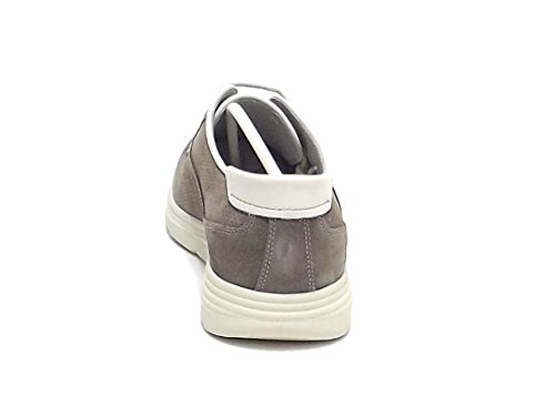 Soldini uomo, modello 19817, sneakers in camoscio, colore beige