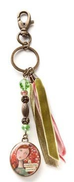 Price comparison product image Kelly Rae Roberts Charming Journey Key Fob - Unique Bag Purse Tote Accessory - 102218KRR