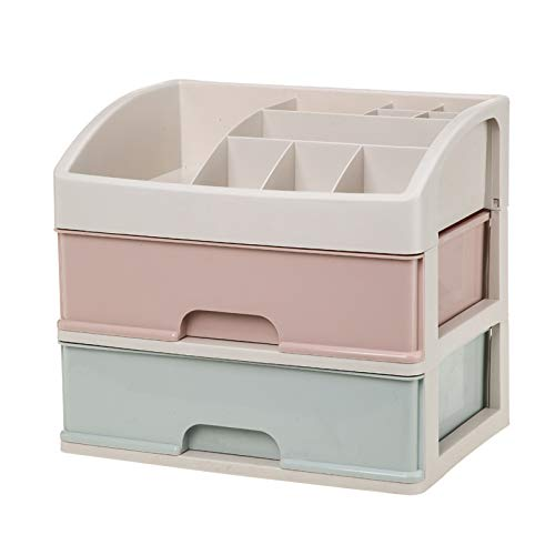 Wuyue Hua Makeup Storage Box Small Size Cosmetic Organizer Multi-Layer Clear Drawer for Bathroom Bedroom Dressing Table