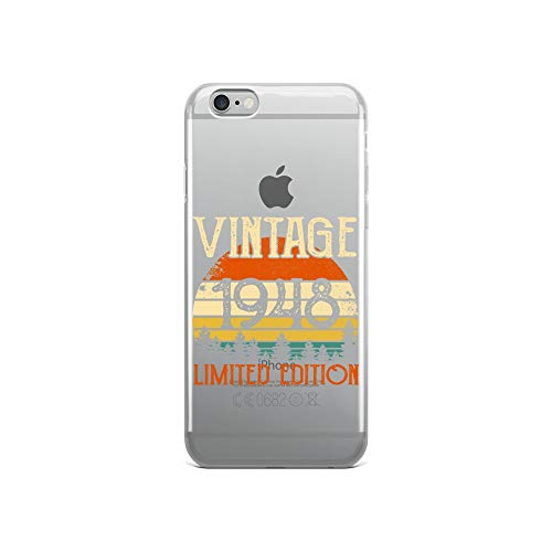 - iPhone 6/6s Pure Clear Case Crystal Clear Cases Cover Happy 71st Birthday Vintage 1948 Years Old Transparent