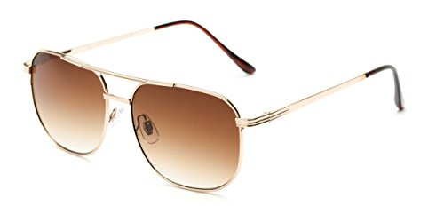Readers.com The Pismo Beach Sun Reader +4.00 Gold with Amber Classic Metal Aviator Reading Sunglasses Reading - Glass Pismo