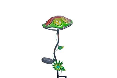 Continental Art Center Mushroom Solar Stake, Ladybug, 8 by 8 by 19-Inch