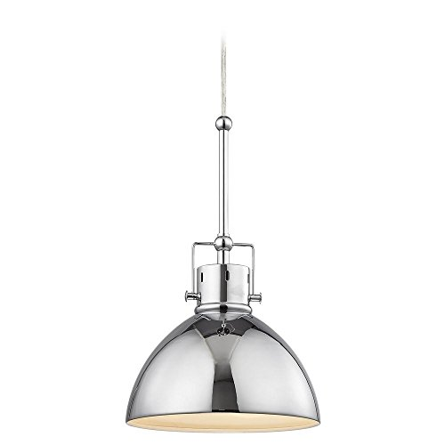 Charmant Chrome Dome Metal Pendant Light