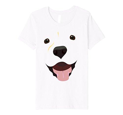 Lab Costume Ideas (Kids Labrador Face Shirt | Funny Cute Lab Dog Costume T-Shirt 6 White)