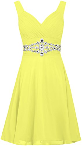 ANTS Women's Straps Short Prom Dresses Crystal Chiffon Co...