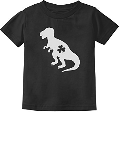 [Irish T-Rex Dinosaur Clover St. Patrick's Day Gift Toddler/Infant Kids T-Shirt 12M Black] (St Patricks Day Shirts For Toddlers)