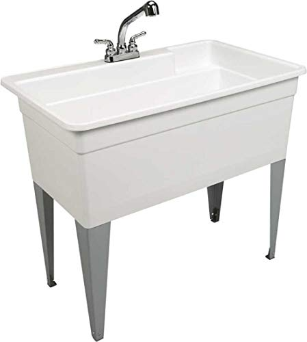 Mustee 28CF (White) (Sink For Dogs)