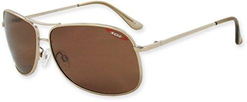 Survival Optics Polar Max/Kona Sunglasses, Shiny Gold Frame, Tac Polarized Brown 1.0mm - Kona Shop Frame