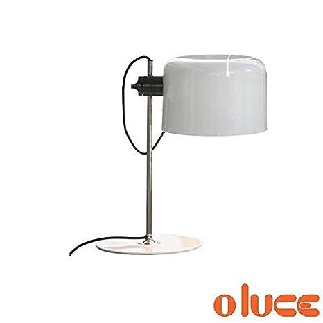 Oluce Coupe lámpara de mesa blanco diseño Joe Colombo 1967 ...