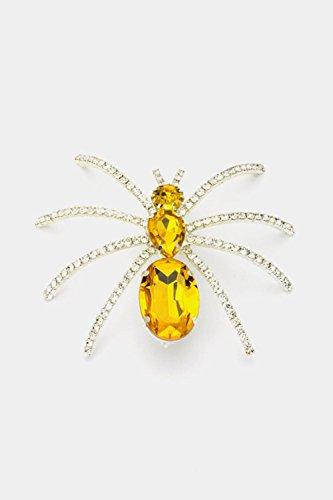 [Chic Chelsea Big Spider Pin (Topaz)] (Peacock Spider Costume)