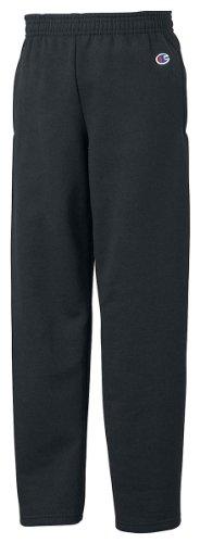 Champion Boys Big Boys' Powerblend Eco Fleece Sweatpant, Black, (Champion Fleece Pants)