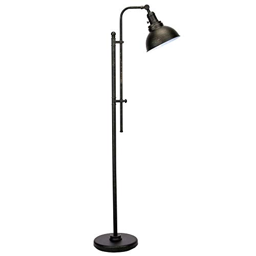 CO-Z Industrial Floor Lamp Adjustable, 65 Inches Rustic Floor Lamp in Aged Bronze Finish, Standing Lamp with Metal Shade for Living Room Reading Bedroom Office.