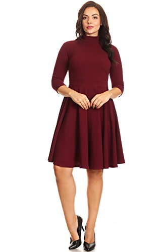Mock Wrap Dress - 8