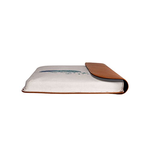 13 MacBook Envelope DailyObjects Air Flock For Sleeve Leather Real Pro Feather wpSqaB