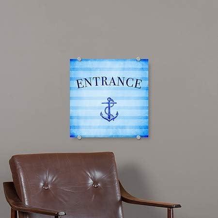 5-Pack Nautical Stripes Premium Brushed Aluminum Sign 16x16 Entrance CGSignLab