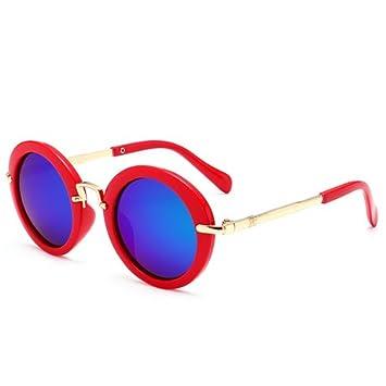 DXXHMJY Gafas de Sol Polarized Vintage Round Sunglasses Kids ...