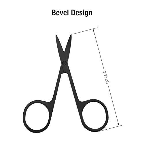 Housmile Beard Retouching Kit, Men's Professional Premium Beard Kit Includes Exquisite Beard Styling Templates, Straight Edged Razors, 5 Sharp Double Edged Blades, Black Stainless Steel Scissors