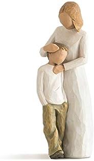 Willow Tree mãe e filho, boneco pintado à mão