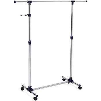 clothes hangers bed bath and beyond rolling rack adjustable garment portable hanging wheels hanger home depot coat hooks