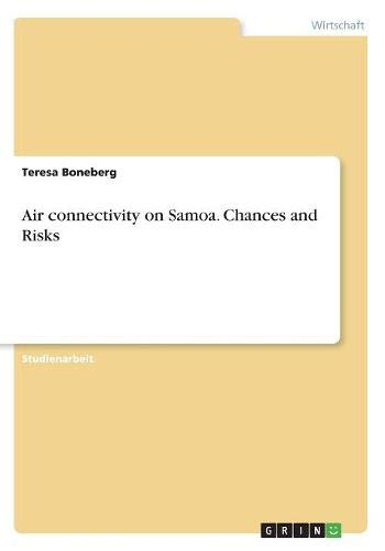 Air Connectivity on Samoa. Chances and Risks  [Boneberg, Teresa] (Tapa Blanda)