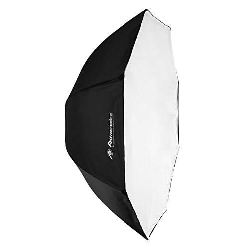 Powerextra 47''/ 120cm Portable Octagon Softbox Speedlight Umbrella Softbox Studio Flash Octagonal Speedlite with Carrying Bag for Portrait and Product Photography by Powerextra
