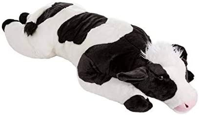 Cuddly Cow Body Pillow, Black and White, 48 Long