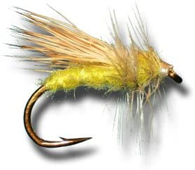hook size 12 Dry Fly  Yellow Sally  Set of 3