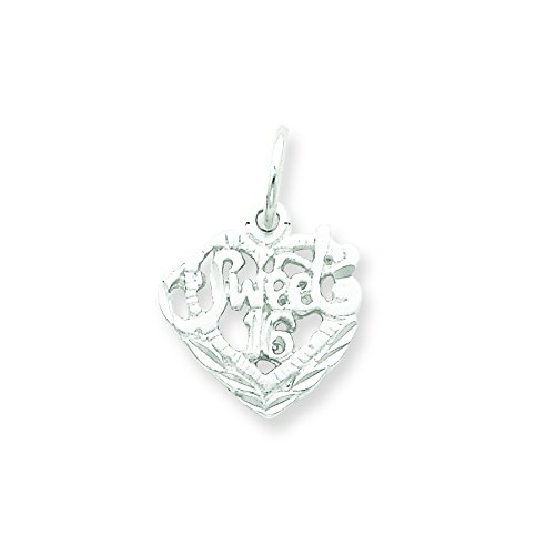Sterling Silver Sweet 16 Charm (Sweet Silver Charm Sterling 16)