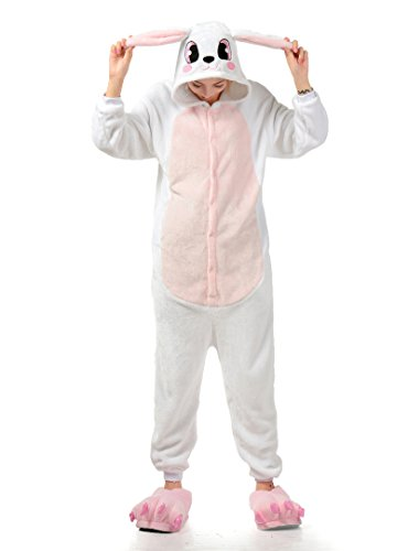 MizHome White Rabbit Cosplay Pajamas Anime Costume Homewear Lounge Wear XL]()