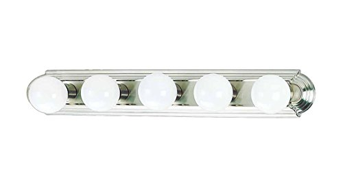 AF Lighting 617565 Beveled Edge Vanity Fixture, Brushed Nickel Finish, 30-Inch