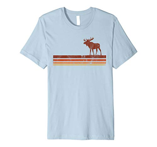 Vintage Hipster Boho Moose Wanderlust 70s 80s Style T-shirt ()