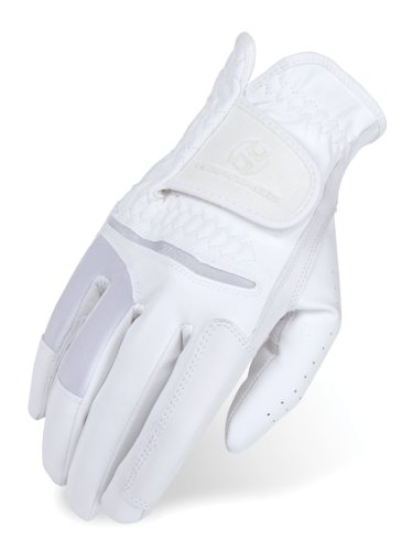 Heritage Pro.Comp Show Gloves, Size 9, White