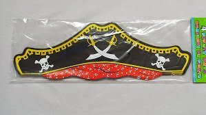 Four Star Pirate Hat - PIRATE PAPER HATS (4 PER PKT by Every-occasion-party-supplies