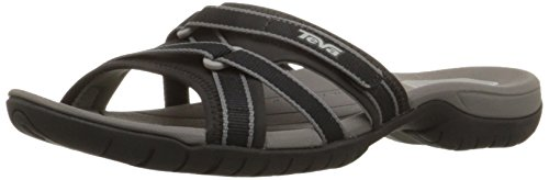 Teva Women's Tirra Slide Sandal,Black,9 M US
