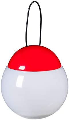Evergreen Garden Jitterbug Red and White LED Rechargeable Outdoor Lantern