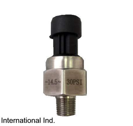 - IIL Pressure transducer, Vac Pressure -14.5 (-30 inHg) to 30 psi, vac Boost Sender