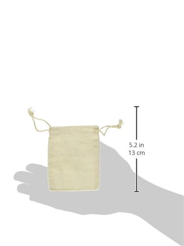 - 	 Cotton Drawstring Muslin Bags, 2.75' X 4' - Pack of 50